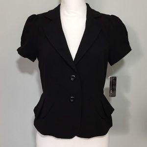 NWT Black Princess Peplum Blazer Jacket Workwear